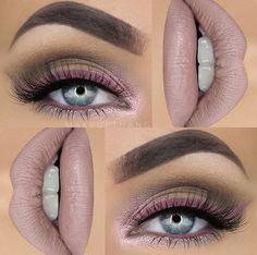 Purply pink makeup