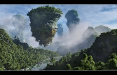 Floating Mountains of Pandora   Land of the Na'vi by 00AngelicDevil00.  South China Karsks!! Watch National Geographic Episode. Incredible.
