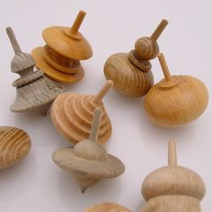Hand-Turned Wooden Spinning Top