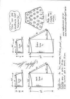 Saia evasê com pala anatômica   DIY - molde, corte e costura - Marlene Mukai