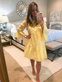 yellow gingham dress | Dressing Room 3.2.18 | Honey We're Home #inthedressingroom #springfashion #honeywerehome #springdress
