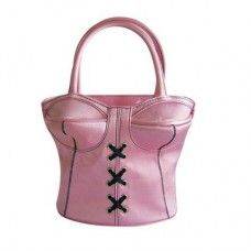 BOLSO CORSETT ROSA. Disponible en negro. #complemento #bolso #corset #mujer #original #femenino