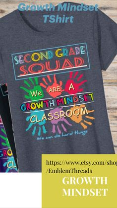 Growth Mindset Classroom, Teacher Appreciation Gifts, Graphic Tee Shirts, Education Quotes, Graphic Design, Mens Tops, T Shirt, Shopping, Supreme T Shirt