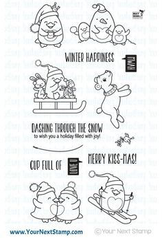 Your Next Stamp:  Waddles Winter Happiness stamp set #yournextstamp