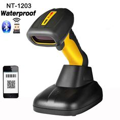 New waterproof handheld Bluetooth Wireless 2D Barcode Scanner fast scanning QR Barcode Reader PDF417 For Android IOS Ipad