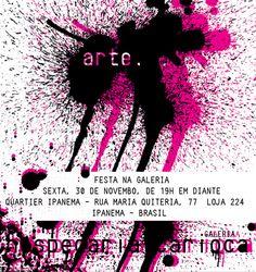 Hospedaria Carioca - convite Galeria Provisória (Ipanema)