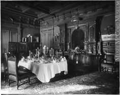 II-73815 | Dining room, Mrs. George Stephen's house, Montreal, QC, 1884 | Photograph | Wm. Notman & Son Gilded Age, Still Standing, Old Buildings, Historical Pictures, Old Pictures, Montreal Qc, Photos, Dining Room, Period