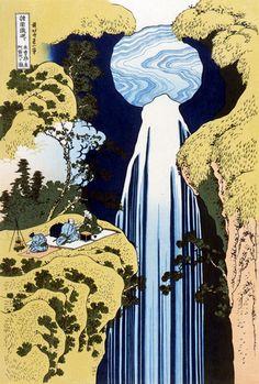 Hokusai Katsushika 葛飾北斎 諸国滝廻り 木曽路ノ奥阿弥陀ケ滝