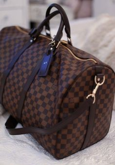 Louis Vuitton Keepall Damier duffle bag - handbag, marc jacobs, travel, vera bradley, red, popular purses *ad