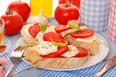 healthy food for fertility - tomato mozzarella sandwiches with basil
