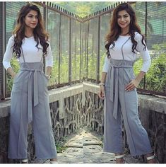 Women Summer Trending Suspender Pants With Adjustable Strap Colour:- Grey Yellow Red Navyblue Brown Wine Maroon Size:- XS To Xxl Price:- Re Shipping Worldwide WhatsApp 919560386369 Teen Fashion Outfits, Look Fashion, Fashion Pants, Indian Fashion, Girl Fashion, Fashion Dresses, Trendy Dresses, Trendy Outfits, Casual Dresses