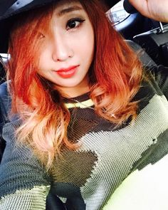 """Minzy: """"My hair is so passionate Lol #nofilter"""""""