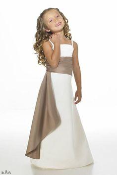 eba095841 Matches bridesmaids style 2614. Strapless matte satin two-tone bridesmaids  gown with pleated cummerbund