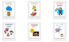 Recursos para el aula: Meses del año Divertidos posters de los meses del año con rima para decorar el aula o enseñar de una manera diferente a los niños