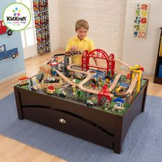 KidKraft Metropolis Train Table and Set--i like this one the most