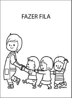 Bambini In Fila Da Colorare | Fredrotgans