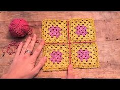 Cómo unir cuadrados con punto raso | How to join granny squares with sli...