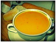 Apfel-Paprika-Suppe: Nicht nur für Vegetarier! - KleineLoeffelHase // Soup made of apples and bell peppers