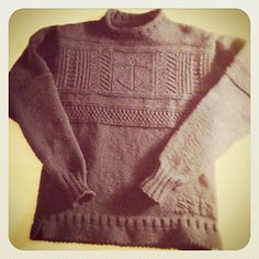 Herringbone and Anchor Gansey Chart by Ned Renfield This chart is just for the main design across the chest, and is not a complete sweater pattern.