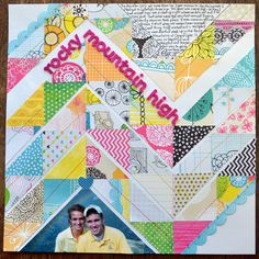 I like doing triangles to make this pattern! Putting this on my to do list! Chevron pattern SB page