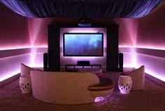 decoración de interiores - sala tecnológica