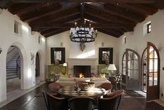 Beautiful Spanish style great room