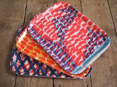 A Trio of Wooden Breakfast Trays £66.00 from Printed Homeware and Textiles by Jonna Saarinen on Folksy