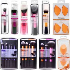 Details about Real Techniques Makeup Brushes Sculpting Powder Blush Foundation Sponge Puff Set - Anna Make Makeup, Makeup Brush Set, Skin Makeup, Makeup Order, Crazy Makeup, Makeup Art, Real Techniques Makeup Brushes, Foundation Sets, Skin Products