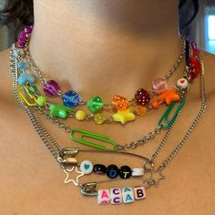 Weird Jewelry, Cute Jewelry, Jewelry Shop, Diy Jewelry, Jewelry Accessories, Jewelry Making, Pulseras Kandi, Grunge Jewelry, Estilo Indie