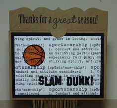Crafting with Katie: Basketball Coach's Gift Card Holder