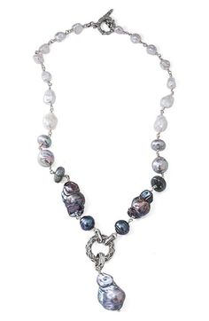 Stephen Dweck Pearl Y-Necklace available exclusively at #Nordstrom