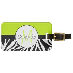 >>>The best place          Lime Green and Zebra Animal Print Custom Monogram Tag For Bags           Lime Green and Zebra Animal Print Custom Monogram Tag For Bags in each seller & make purchase online for cheap. Choose the best price and best promotion as you thing Secure Checkout you can trus...Cleck Hot Deals >>> http://www.zazzle.com/lime_green_and_zebra_animal_print_custom_monogram_luggage_tag-256645901586263840?rf=238627982471231924&zbar=1&tc=terrest