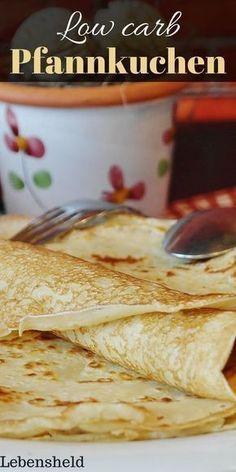 Rezept für ein low carb Pfannkuchen zum Abnehmen.