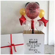Pin by Liz on Ideas Giant Balloons, Custom Balloons, The Balloon, Balloon Box Surprise, Surprise Box, Balloon Decorations, Birthday Party Decorations, Diy Birthday, Birthday Gifts