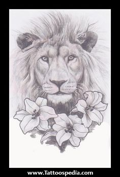 Lion%20And%20Lily%20Tattoo%201 Lion And Lily Tattoo