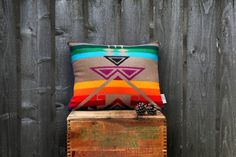 Rainbow Mountain Pillow