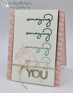 Stampin' Up! Amazing You Card – Stamp With Amy K