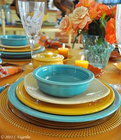 The Welcomed Guest Summertime Fiesta Dinnerware Tablescape | Fiestaware | Pinterest | Fiestas and Dinnerware & The Welcomed Guest: Summertime Fiesta Dinnerware Tablescape ...