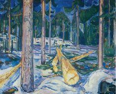 Edvard Munch - 1911-12 The Yellow Log