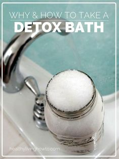 Detox Bath: Why and How - A detox bath is one of the easiest healing therapies we can do to facilitate our body's natural detoxification system. In today's post I am going to tell you why you want to take a detox bath as well as show you how. Health And Beauty Tips, Health And Wellness, Health Tips, Health Benefits, Detox Bath Benefits, Healthy Life, Healthy Living, Healthy Detox, Healthy Weight