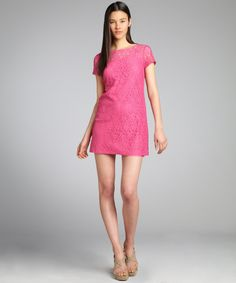 Ali Ro watermelon stretch cotton lace cap sleeve dress | BLUEFLY up to 70% off designer brands