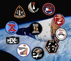NASA's Gemini Astronauts Apollo Space Program, Nasa Space Program, Earth And Space Science, Earth From Space, Project Gemini, Nasa Patch, Nasa Missions, Space Race, Badges