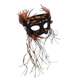cavewoman mask feathers women tribal tiger skull halloween costume accessory