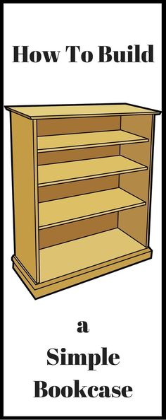 How To Build A Simple Bookcase. Nice One For Beginner Woodworkers #woodworkingforkids #woodworkingforbeginners