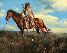 One with the Land by Richard Luce ~ Native American on horseback
