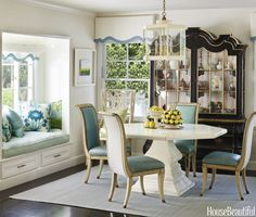 Blue and White Dining Room #californiahomes