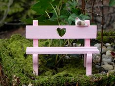 Fairy Garden Miniature Wooden Sweetheart by TheLittleHedgerow, $7.50
