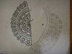 Casaquinho de crochê feito com a linha pingouin tropfil marfim nº 04, a inspiração está a baixo, apenas alterei a manga, até cheguei fa...