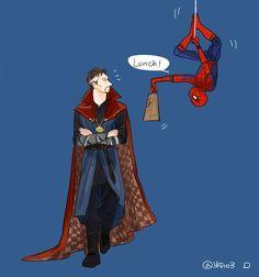 Doctor Strange & Spiderman. CUTE.