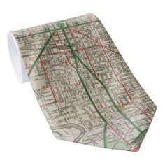 Vintage Map of Indianapolis Indiana (1921) Tie
